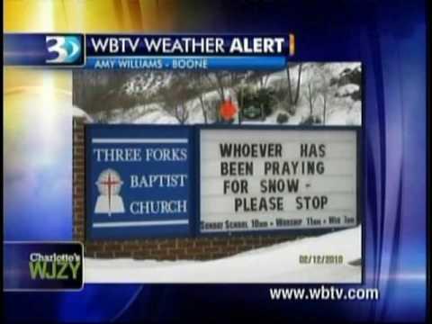Winter Storm Local Coverage - Wbtv News 3(Wjzy) - 2/12/10 (9