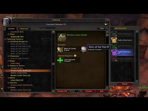 Crafted Gear Can Scale to your Level in Shadowlands – Optional Reagents Profession Changes