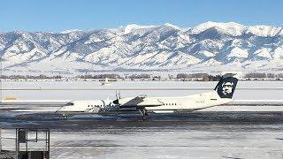 (HD) Alaska Airlines (Horizon) Bombardier Q400 Bozeman - Seattle
