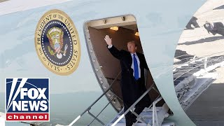 Trump returns to DC aboard Air Force One