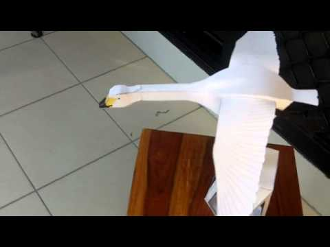 Flying Swan Papercraft A Papercraft Automata Made By Mark Luton