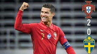 Шикарный дубль Роналду Португалия 2 0 Швеция 08 09 2020 обзор матча