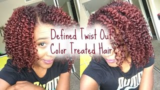 natural hair   defined twist out   color treated hair