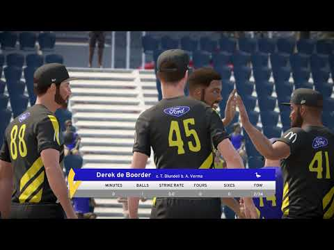 Otago Volts v Wellington Firebirds    Super Smash 2017    Don Bradman Cricket 17