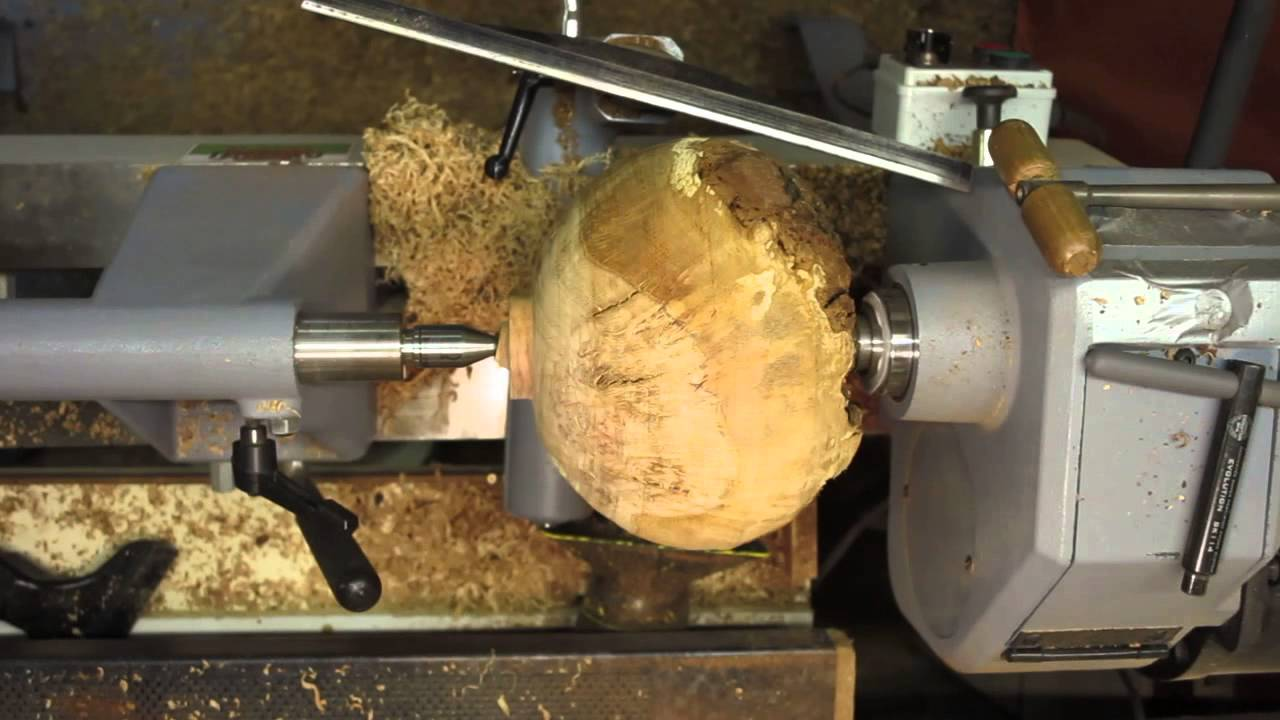 Wood Turning Natural Edge Oak Burl Bowl Youtube