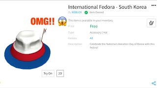 How to get the Korean fedora on Roblox!