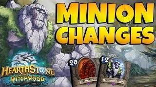 NEW MINION CHANGES IN HEARTHSTONE! GIANTS BUFFED?! R.I.P. JUNGLE MOONKIN