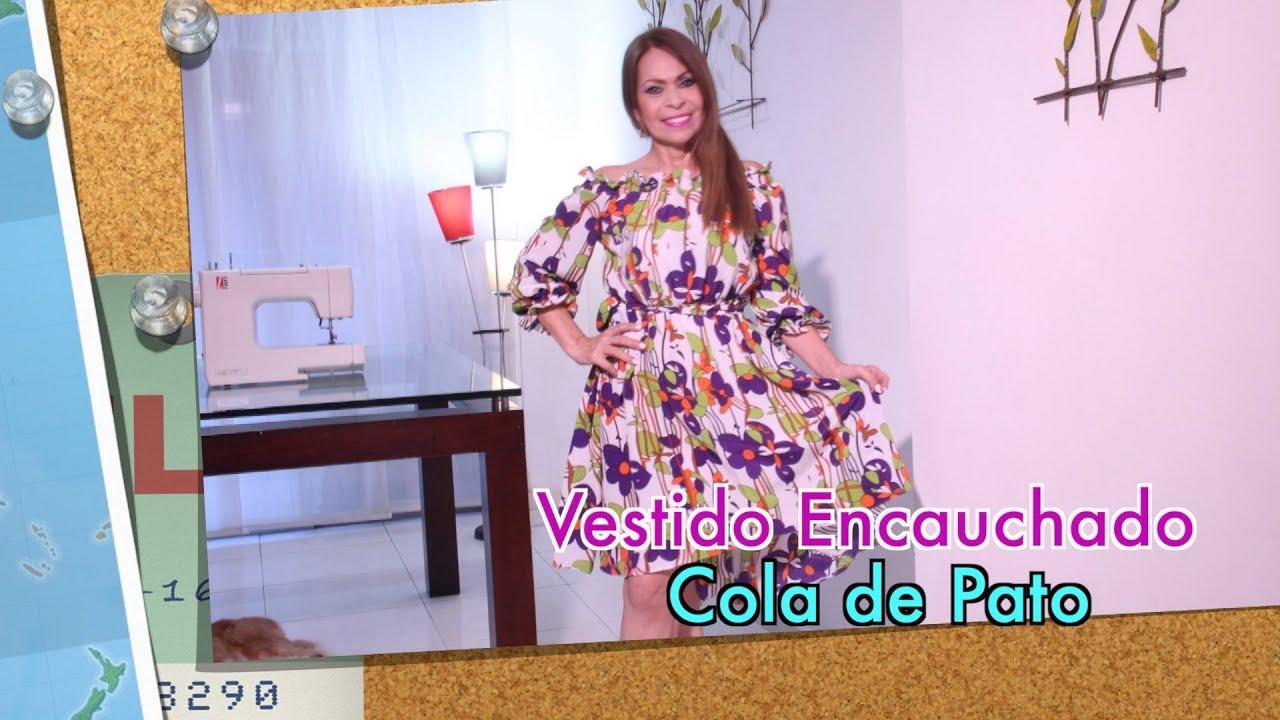 Diy Vestido Encauchado Cola De Pato Dress Omaira Tv