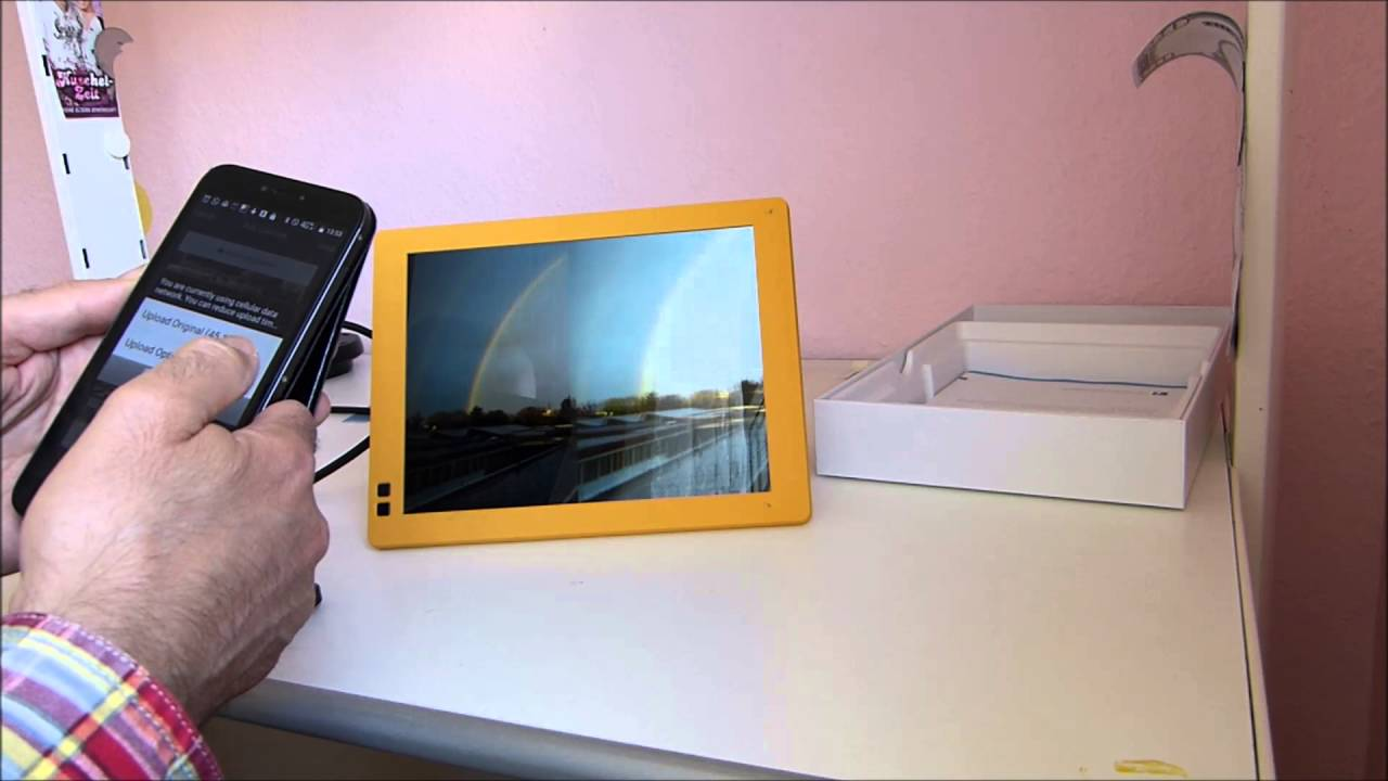 Testbericht Digitaler Bilderrahmen Nixplay Seed 10 Zoll - YouTube