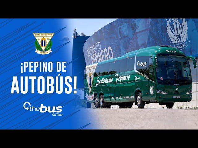 🥒🚌 ¡El nuevo AUTOBÚS del C.D. Leganés es un pepino!