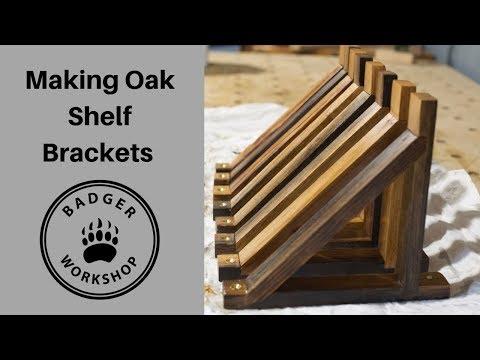 Oak Shelf Brackets