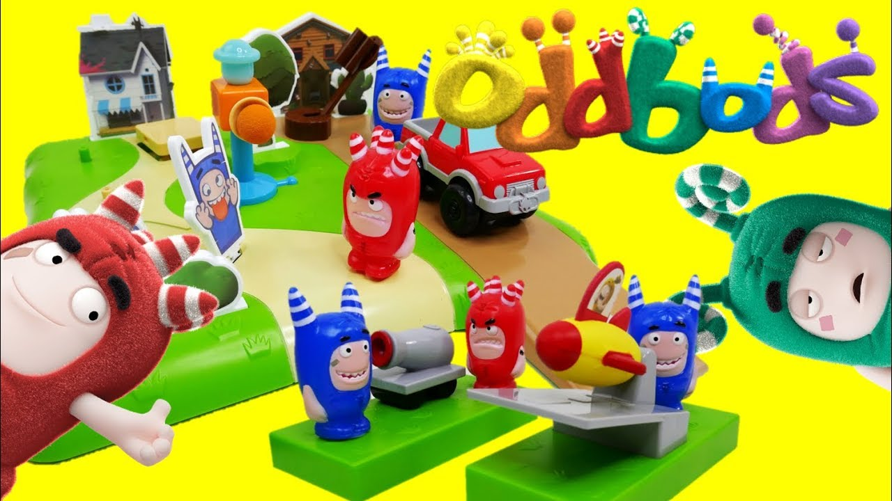 Oddbods Toys Neighborhood Prank And Stunts Playset