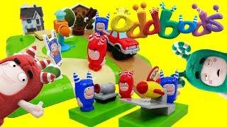 Oddbods Toys - Neighborhood Prank And Stunts Playset - Bubbles Fuse Pogo