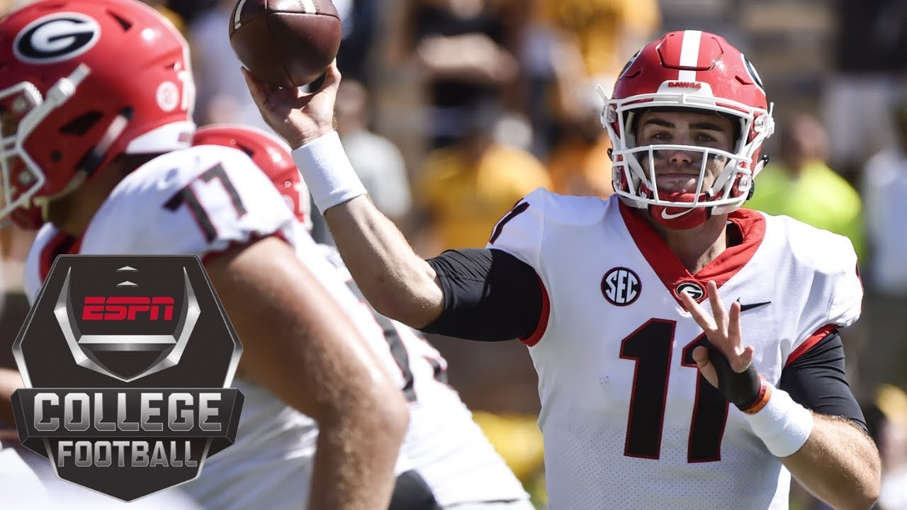 College Football Highlights Jake Fromm S 3 Td Passes Lead Georgia