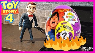 Toy Story 4 Benson stole my NEW Ryan ToysReview GIANT Purple Egg from Walmart | Toy Hunt
