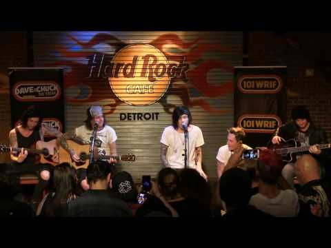 """Asking Alexandria performing """"The Black"""" (Acoustic) at the WRIF Rock Girl Finals"""