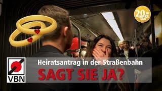 Heiratsantrag in der Straßenbahn / Flashmob / VBN 20 Jahre