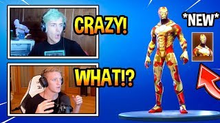 "STREAMERS REACT TO *NEW* ""IRON MAN"" SKIN! *MODDED* Fortnite EPIC & FUNNY Moments"