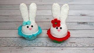 Пасхальный зайчик (кролик) крючком | Сувенир крючком на Пасху