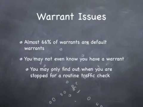 Warrant Check  Do a warrant check and avoid arrest