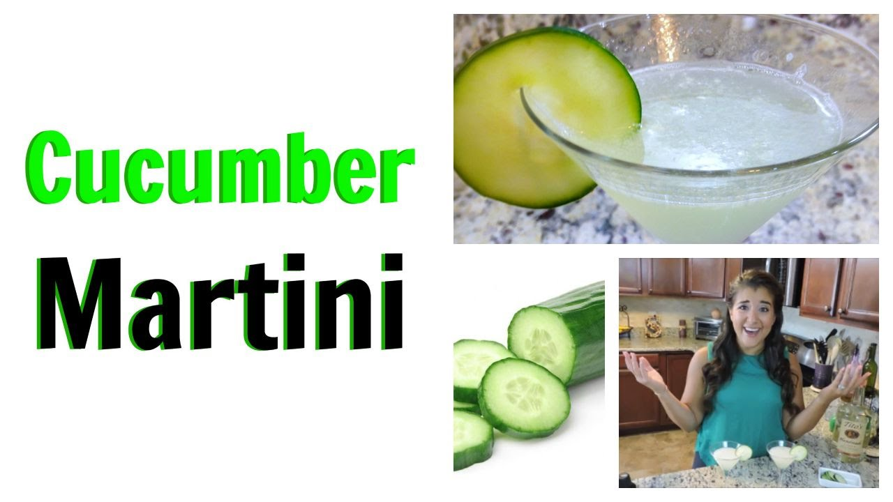 Cucumber Vodka Martini Cocktail Recipe With Fresh Cucumber Cait Straight Up