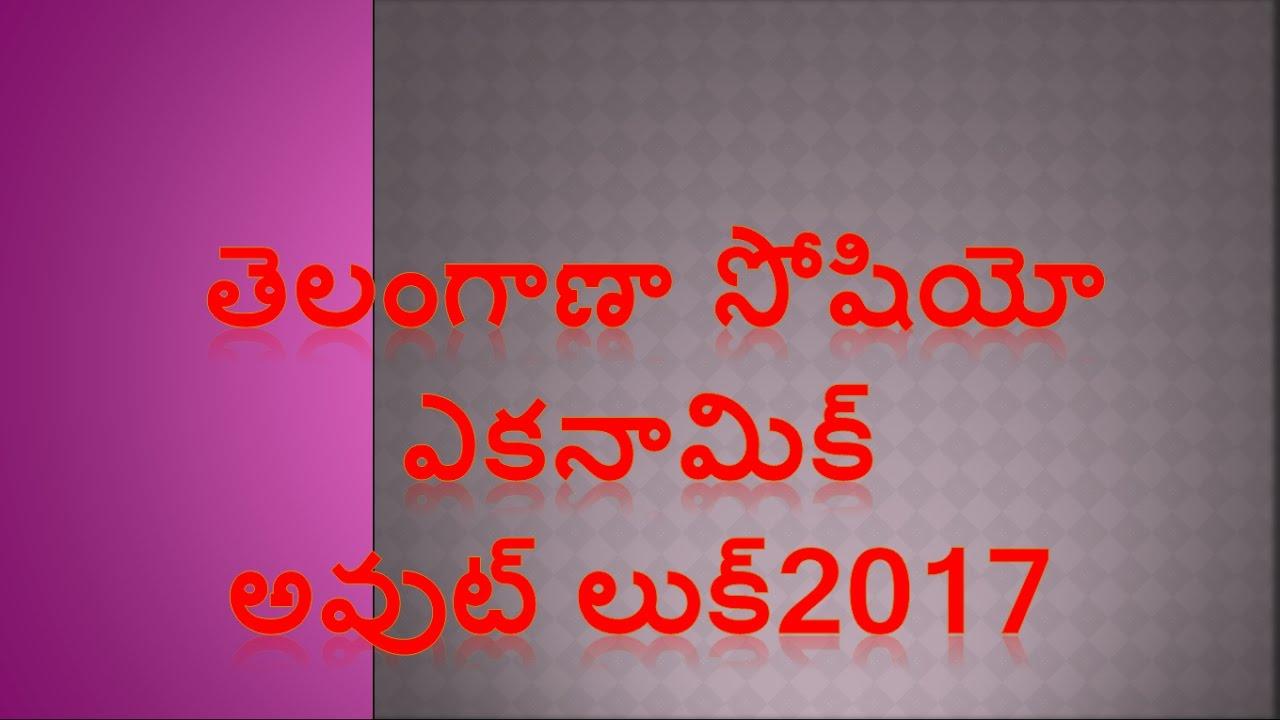 Telangana Socio Economic Outlook 2017 For all Tspsc Exams