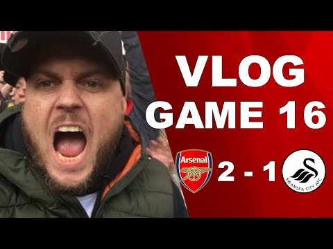 ARSENAL 2 v 1 SWANSEA - AWFUL PERFORMANCE BUT WE GOT THREE POINTS - MATCHDAY VLOG