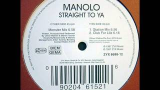 Manolo - Straight To Ya (Monster Mix)