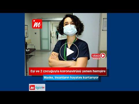 Eşi ve 2 çocuğuyla koronavirüsü yenen hemşire: Maske, insanların hayatını kurtarıyor