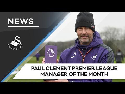 Swans TV - Paul Clement Premier League Manager of the Month