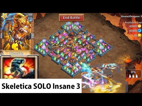 Skeletica Challenge Accepted From Pocay SOLOING Insane 3-10 Castle Clash