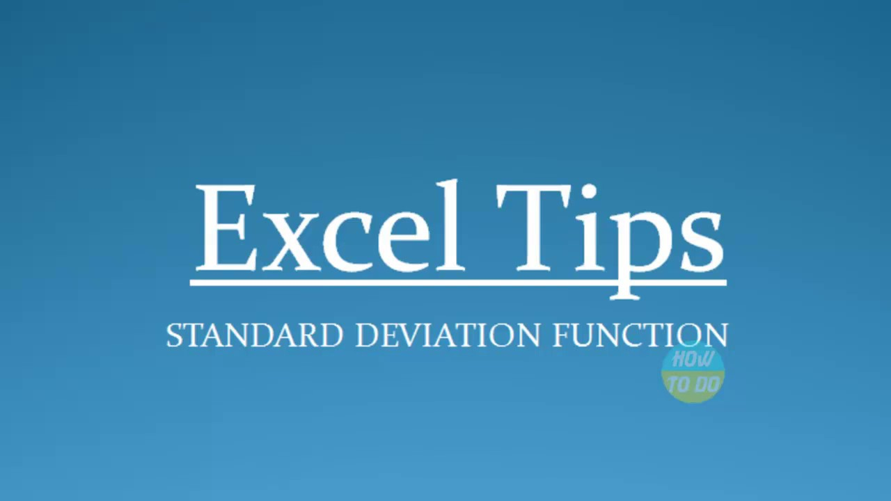 5 tips for understanding standard deviation - How To Use Standard Deviation Function In Excel