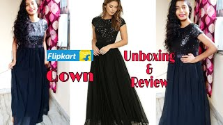 Flipkart Gown unboxing and review Expectations vs Reality keebisha