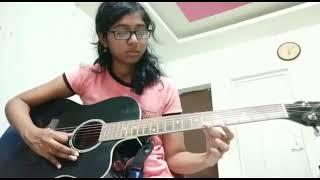 Mun dhinam parthene. Guitar tutorial by MRIDHULA Carnatic notes link in Description