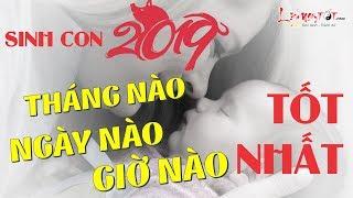 Sinh Con Năm 2019 Tháng Nào Ngày Nào Giờ Nào Tốt Nhất?