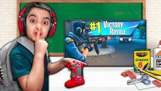 My Little Brother Leaves Class To Play Fortnite At School!