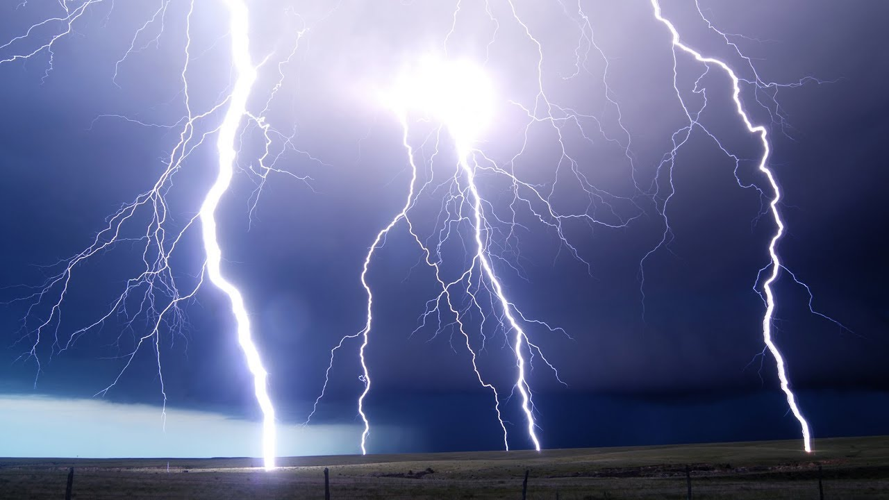 lightning storms at night