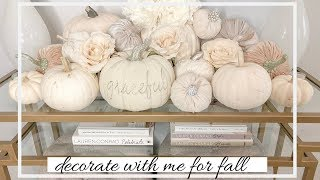 Fall Decorating! Neutral Glam Living Room Tour & Decorate with me!