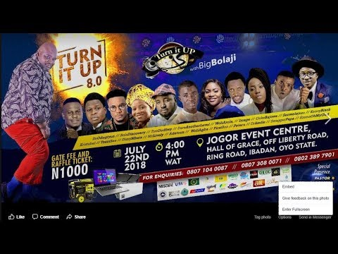 WOLI AGBA @TURN IT UP WITH BIG B CONCERT 2018