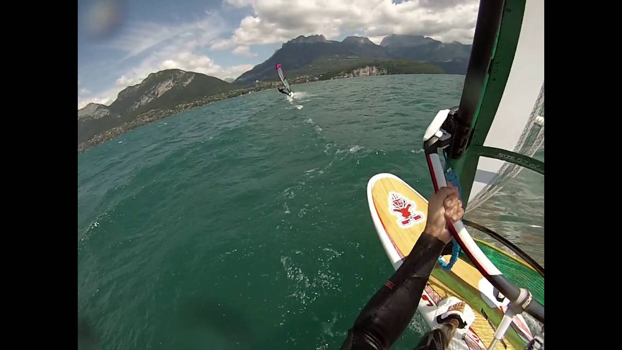 Windsurf Lac Annecy Starboard I Sonic 97 Gun Sails Rapid 5 7 Exces De Vitesse Youtube