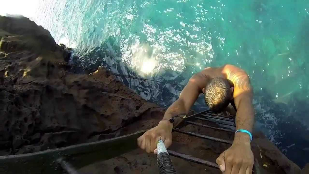 Cliff Jumping In Hawaii Big Island