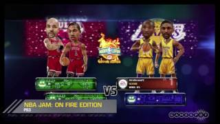 NBA Jam: On Fire Edition Big Head Lakers vs. Bulls Gameplay (PS3)