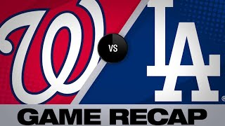 5/12/19: Ryu, Seager lead Dodgers over Nationals