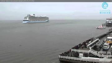 QUANTUM OF THE SEAS - Cuxhaven Webcam 23.10.2014