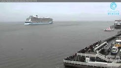QUANTUM OF THE SEAS - Cuxhaven Webcam 23.10.2014