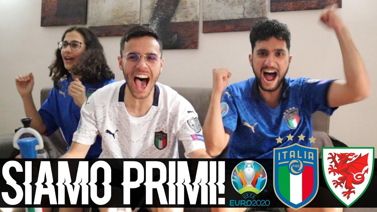 SIAMO PRIMII!! PESSINA TI AMOOO!! ITALIA-GALLES 1-0 | LIVE REACTION EURO 2020