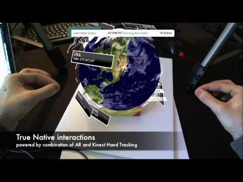 Smart Vision - Interactive Augmented Reality, Hand Tracking using Kinects SAP HANA, NetWeaver Cloud