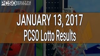 PCSO Lotto Results January 13, 2017 (6/58, 6/45, 4D, Swertres & EZ2)