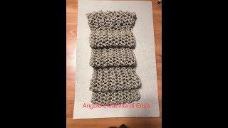 Sciarpa punto rete ai ferri facilissima❤ Knitted scarf easy❤ Bufanda de punto fácil