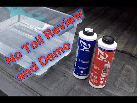 Review and Demo - No Toil Air Filter Oil and Cleaner